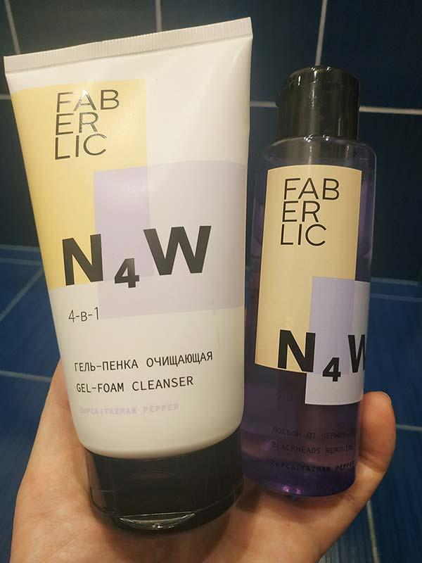 Затестила новую серию для проблемной кожи N4W от Faberlic (умывалка и тоник)